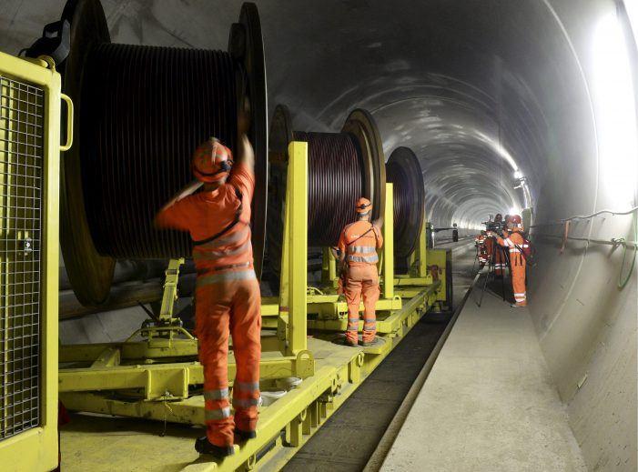 Gehärtetes Netzwerk im Gotthard-Tunnel
