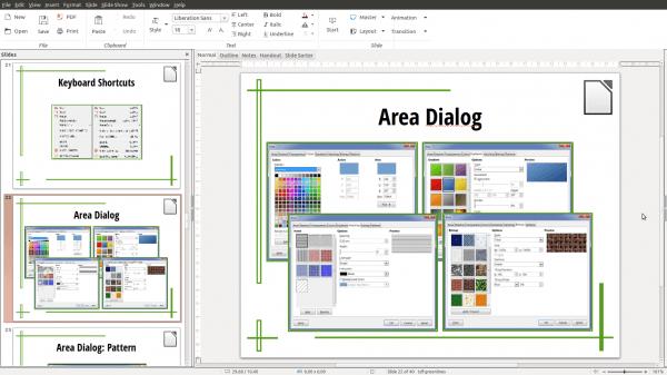LibreOffice Impress - Notebookbar