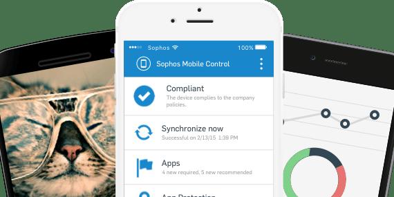 Endpoint-Sicherheit und Management-Funktionen für mobile Geräte