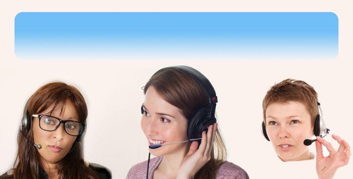 Das moderne Fräulein vom Amt für die Cloud-Telefonie