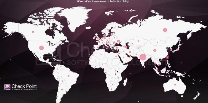 Globale Infektionskarte der WannaCry-Ransomware