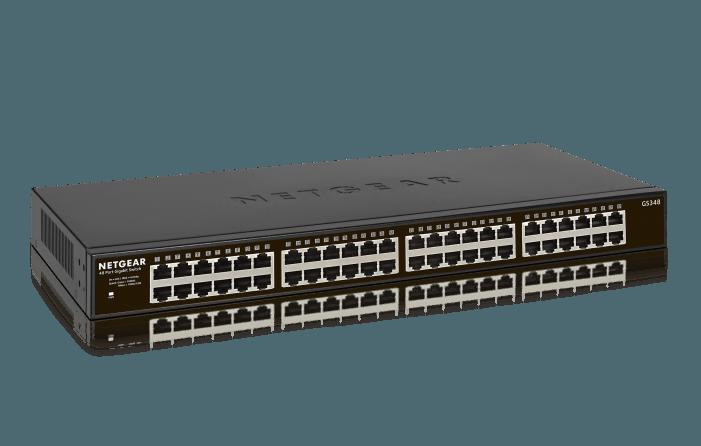 Gigabit-Geschwindigkeit mit 48 Ports für KMU und Home-Office
