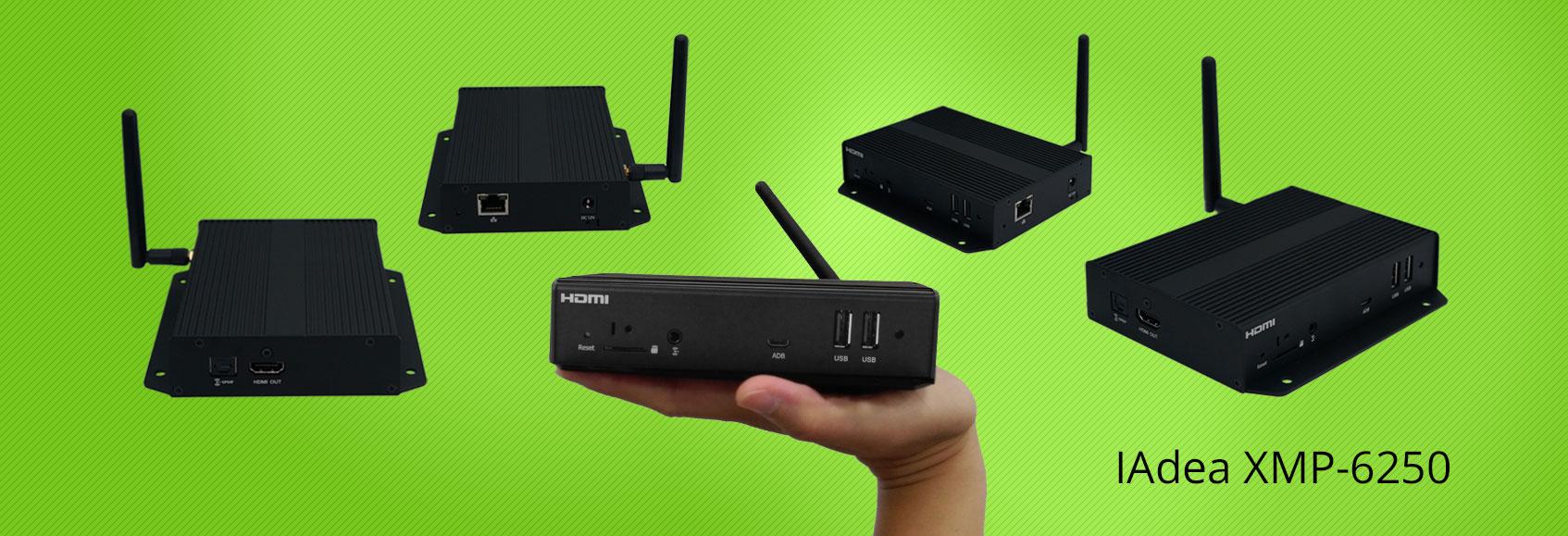 Das Einstiegsmodell von IAdea, der XMP-6250, löst bereits eine Vielzahl der mannigfaltigen Digital-Signage-Anwendungen.