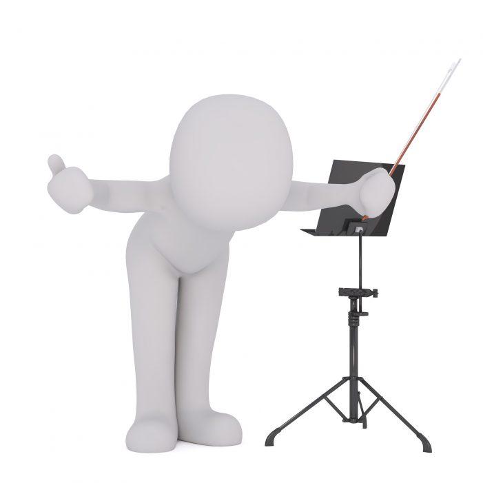 Menschen werden digitale Dirigenten