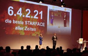 Starface-Geschäftsführer Florian Buzin brachte die Besucher in Sachen STARFACE auf den aktuellen Stand.