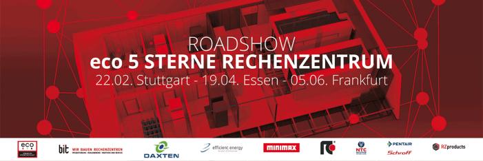 5-Sterne-Rechenzentrum-Roadshow am 22.2. in Stuttgart, 19.04. in Essen, 5.06. in Frankfurt