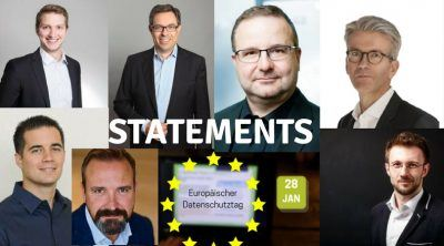 Statements zum europäischen Datenschutztag