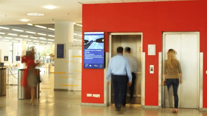 Digital-Signage ergänzt Medien der internen Kommunikation bei EnBW