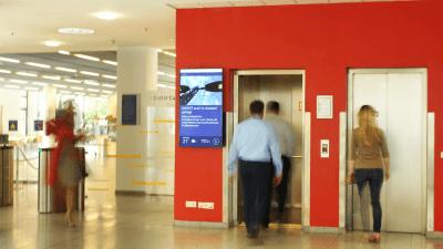 EnBW installiert Digital Signage für eine moderne Mitarbeiterkommunikation. Quelle: Dimedis