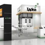 IAdeas Standkonzept mit den Partnern 4YouSee, EMS Software und ADMobilize auf der Infocomm in Las vegas.