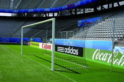 Tor von Sportgeräte 2000 im EM-Stadion Innsbruck. (Bildquelle: Sportgeräte 2000 GmbH)