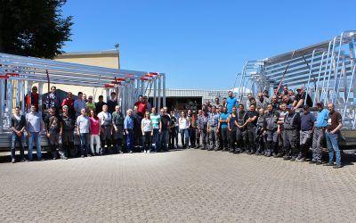 Das Team von Sportgeräte 2000 ist dank der Auerswald Lösung auf dem ganzen Betriebsgelände mobil erreichbar. (Bildquelle: Sportgeräte 2000 GmbH)