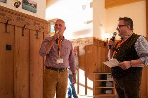 Das Erfolgsduo: Die beiden Sysob-Geschäftsführer Georg Thoma und Thomas Hruby begrüßen die Gäste.