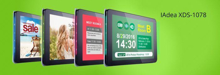 Konferenzräume simpel über Signboards von IAdea Deutschland buchen