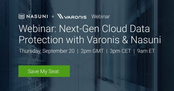 Varonis-Webinar zur Next-Gen-Cloud-Datensicherheit, 20. September