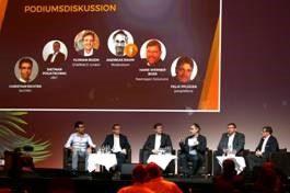 """Branchentalk der Experten: die Podiumsdiskussion zum Thema """"Gibt es einen TK-Markt nach All-IP?"""" am zweiten Veranstaltungstag."""