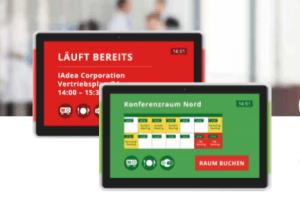 Helles Signboard von IAdea Deutschland für den Smart-Workplace