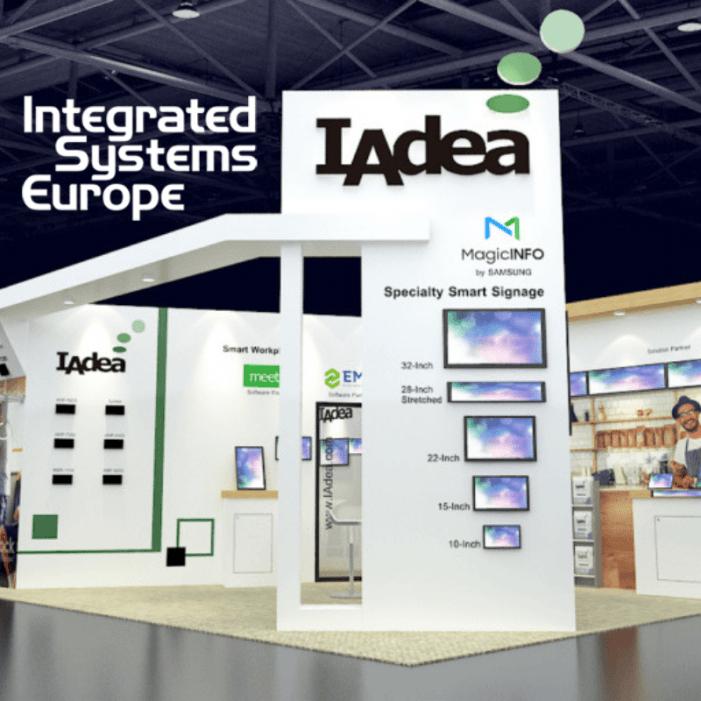 ISE-Mixer IAdea Deutschland –Mix aus Produkten, Lösungen, Partnerschaften und Networking auf der ISE 2019