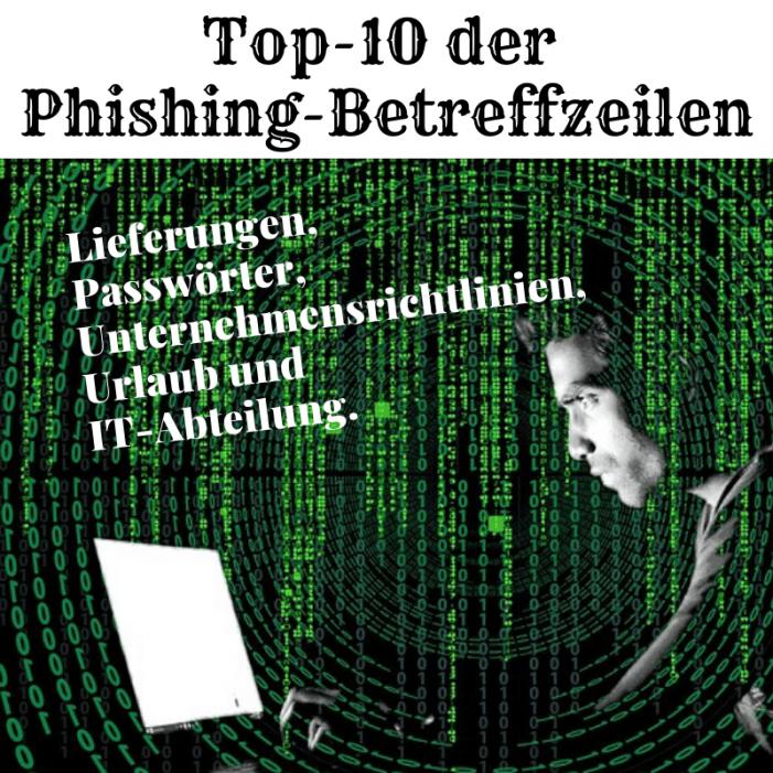 Top-10 der Phishing-Betreffzeilen