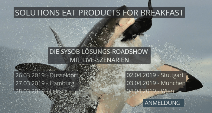 Sysob-Lösungsroadshow 2019 präsentiert Live-Szenarien