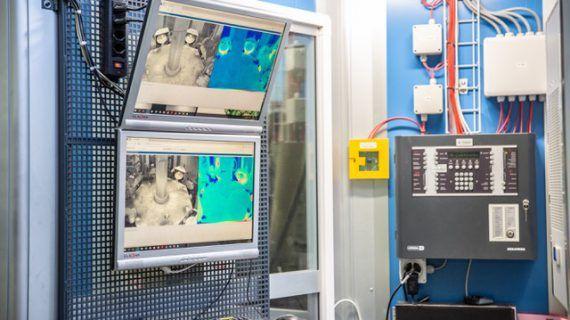 Thermalkameras kommunizieren mit Löschsystemen, um Brände in der Produktion zu verhindern