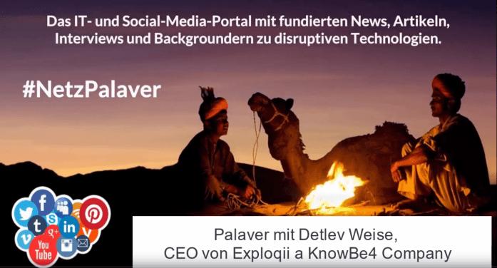Palaver mit KnowBe4 zu Social-Engineering