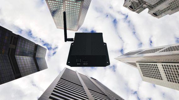 Kompakter Media-Player für Digital-Signage aus der Cloud