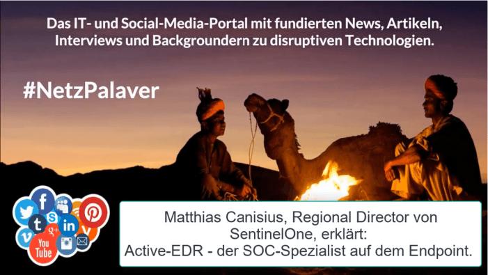 Matthias Canisius von SentinelOne erklärt ActiveEDR