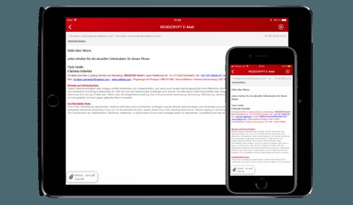 Vollautomatische E-Mail-Ver- und -Entschlüsselung im Hintergrund