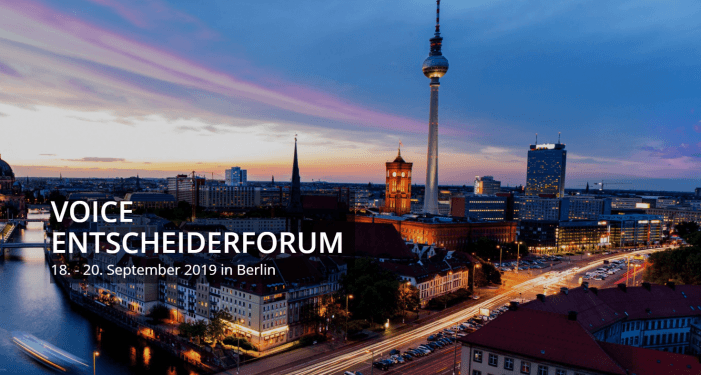 VOICE Entscheiderforum vom 18. bis 20. September in Berlin