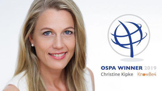 OSPA zeichnet Christine Kipke zur herausragenden weiblichen Sicherheitsexpertin aus