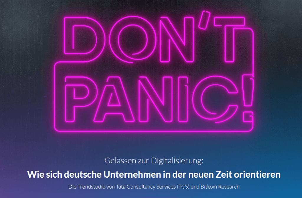 Don't Panic! Gelassen zur Digitalisierung.Die Trendstudie von TCS und Bitkom Research - cover