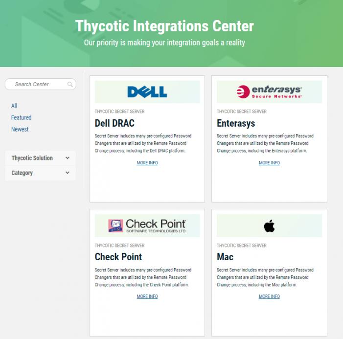 Thycotic optimiert Portal für Third-Party-Integrationen in seine PAM-Lösung
